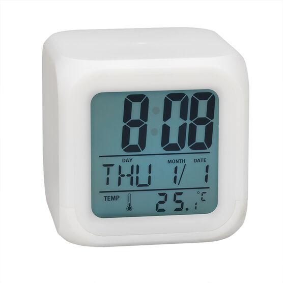 HRS Digital Alarm Clock - White - ALCK472