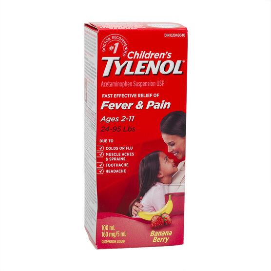 Tylenol* Children's Liquid - Banana - 100ml