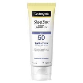 Neutrogena Sheer Zinc Mineral Sunscreen - SPF50 - 88ml