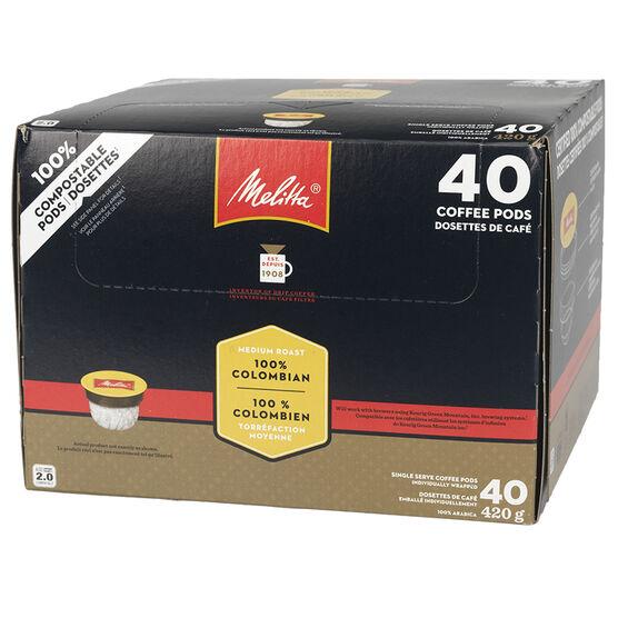 Melitta 100% Columbian Coffee - 40 Pack