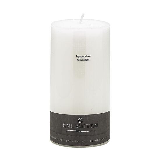 Enlighten Linen Unscented Pillar Candle - White - 3 x 6inch