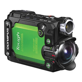 Olympus Tough TG-Tracker Green with Optex 6-in-1 Accessory Kit - PKG #44556