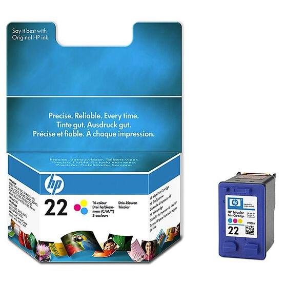 HP 22 Inkjet Print Cartridge - Tri-Colour - C9352AC140