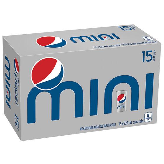 Pepsi Mini - Diet - 15x222ml