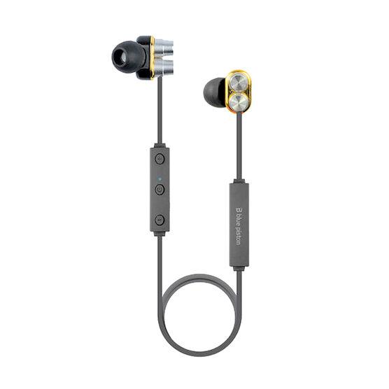 Logiix Blue Piston TuneFREQS Duo Bluetooth Headphones - Black - LGX12226
