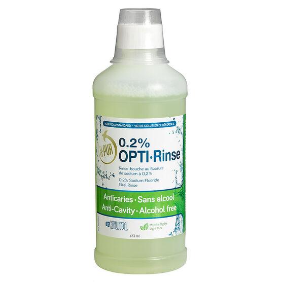 X-Pur Opti-Rinse 0.2% Sodium Fluoride Oral Rinse - Light Mint - 473ml