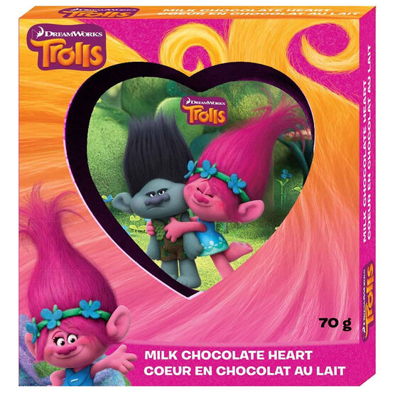 Trolls Milk Chocolate Heart - 70g