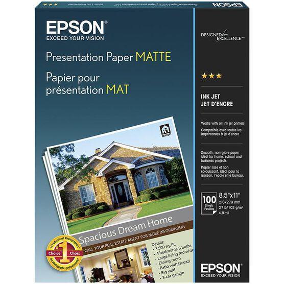 Epson Presentation Paper Matte - 8 x 11inch - 100 sheets