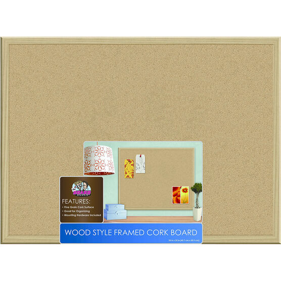 board dudes wood framed cork 50 x 32 boards for home office large white