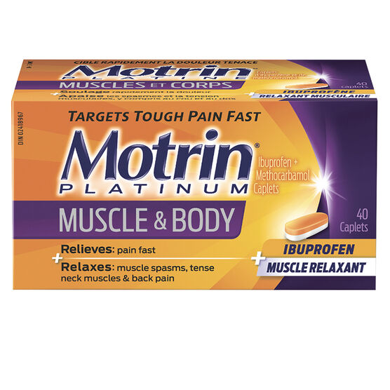 Motrin Platinum Muscle and Body Caplets - 18's