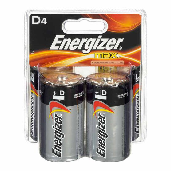 Energizer Max D Batteries - 4 pack