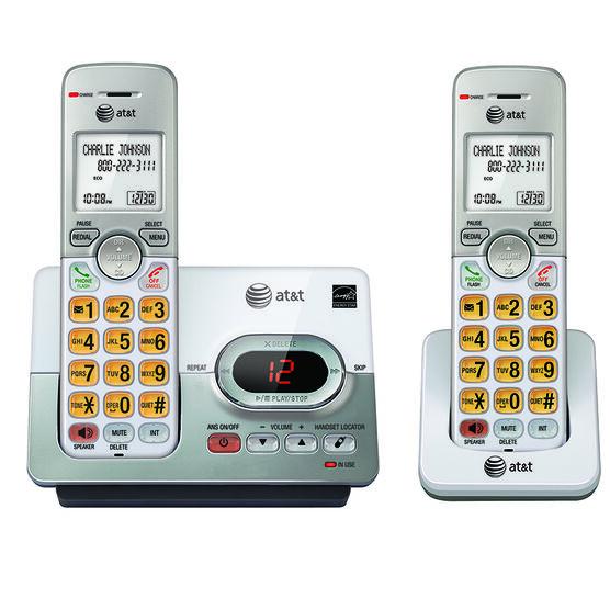 AT&T Dual Handset Cordless Phone - 2 Handsets - EL52203