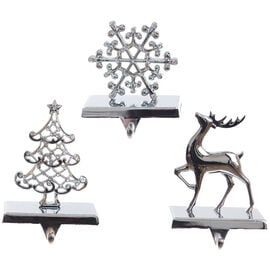 Danson Metal Stocking Holder - Assorted - Silver - 7.5in