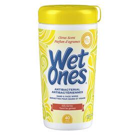 Wet Ones Anti-Bacterial Wipes - Citrus