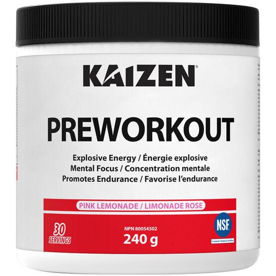Kaizen Pre-Work Out Supplement - Pink Lemonade - 240g