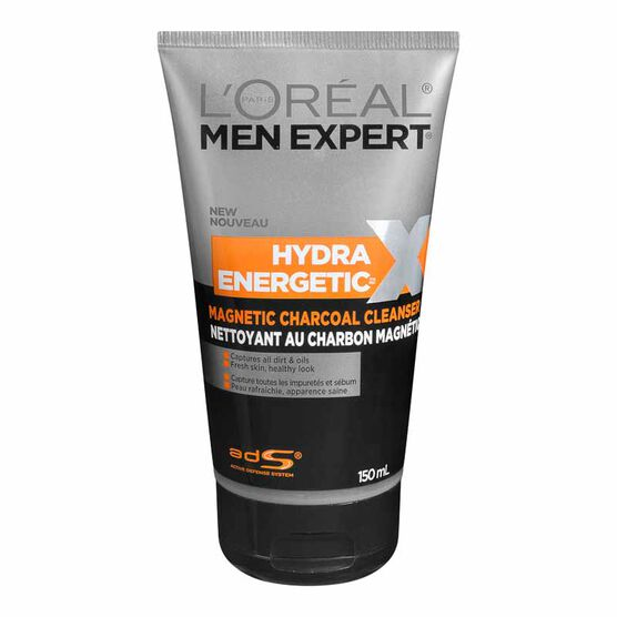 L'Oreal Men Expert Hydra Energetic Magnetic Charcoal Cleanser - 150ml
