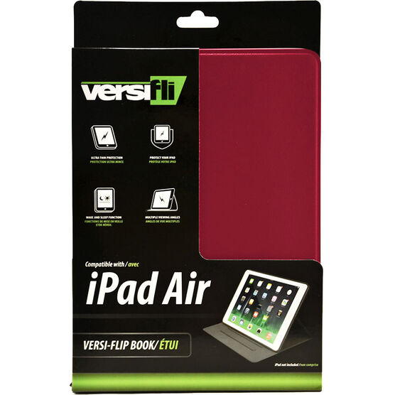 Versifli Versiflip For iPad Air - Red - FLI-5032RE