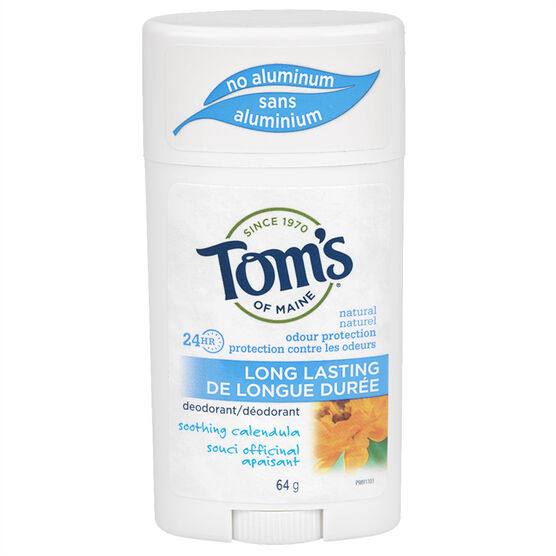 Tom's of Maine Deodorant Stick Long Lasting - Calendula - 64g