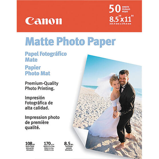 Canon Photo Paper Matte - 8.5 x 11 - 50 Sheets - 7981A004