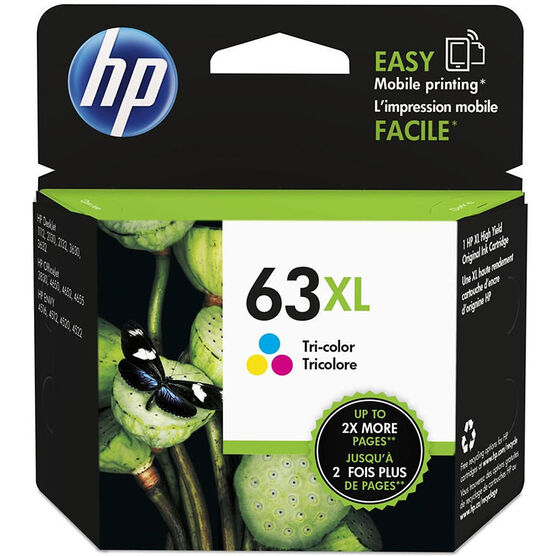 HP 63XL Ink Cartridge - Tri Colour - F6U63AN#140