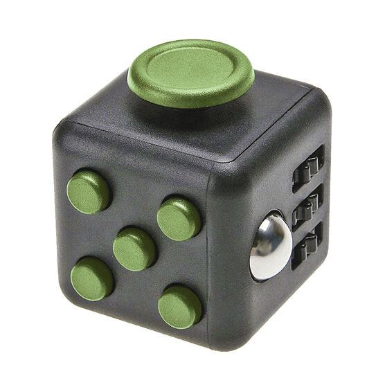 IQ Fidget Friend Cube - Black/Green - IQFIDBKGRN