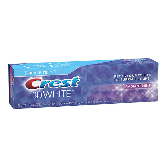 Crest 3D White Toothpaste - Radiant Mint - 100ml