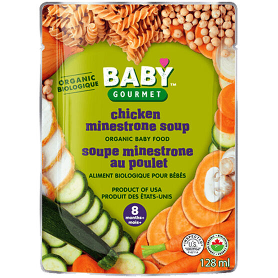 Baby Gourmet Chicken Minestrone Soup - 128ml