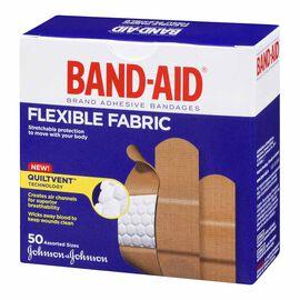 Johnson & Johnson Band-Aid Flexible Fabric - Assorted - 50's