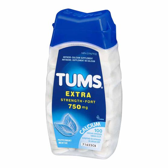 Tums Extra Strength - Peppermint - 100's