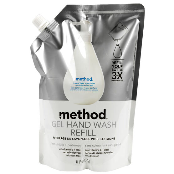 Method Gel Hand Wash Refill - Vitamin E & Aloe - 1 Litre