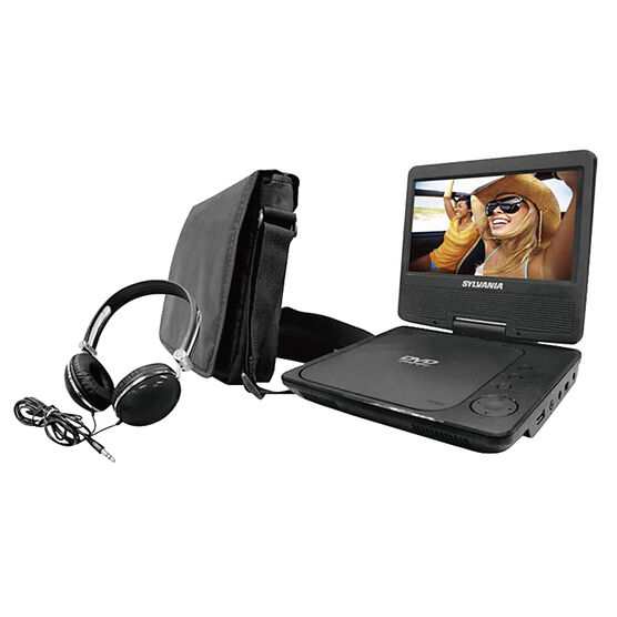 Sylvania 7-inch Portable DVD Player with Bag and Headphones - Black - SDVD7060COMBO