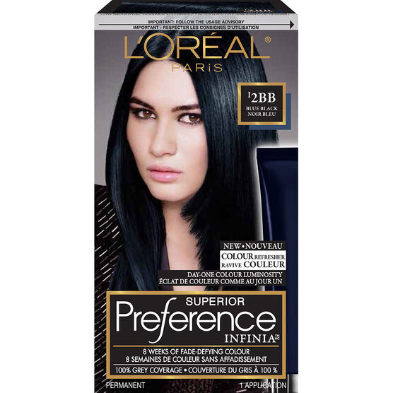 L'Oreal Superior Preference Infinia Fade-Defying Hair Colour - I2BB Blue Black
