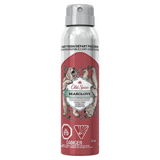 Old Spice Invisible Spray Anti-Perspirant & Deodorant - Bearglove - 132ml
