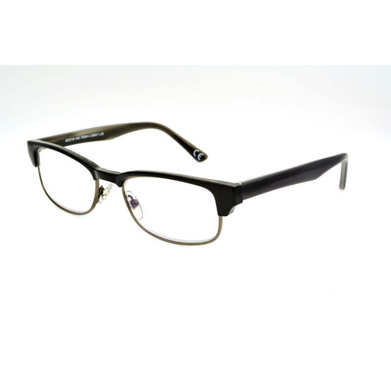 Foster Grant Cartwright Reading Glasses - Black/Chrome - 2.00