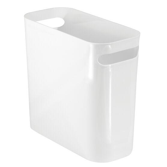 InterDesign Una Slim Waste Basket - White