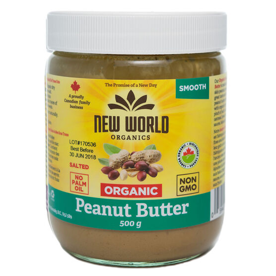 New World Organic Peanut Butter - Smooth - 500g