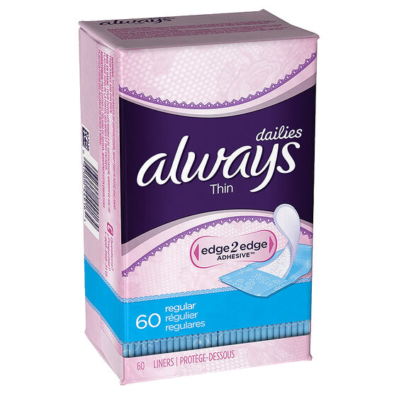 Always Pantiliners - Thin - Unscented - 60's