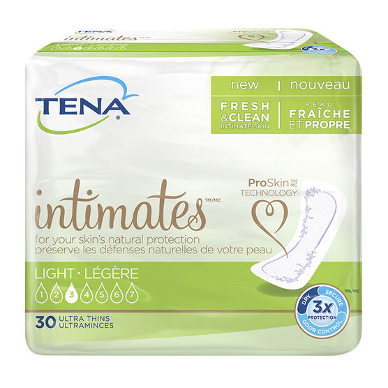 Tena Dri Active Slender Pads - Ultra Thin/Regular - 30's