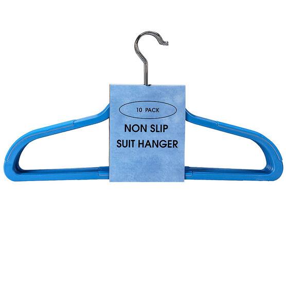 London Drugs Non Slip Hangers - Blue - 10 pack