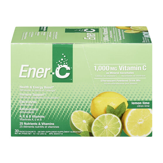 Ener-C Vitamin C Powered Drink Mix - 1000mg- Lemon Lime - 30's