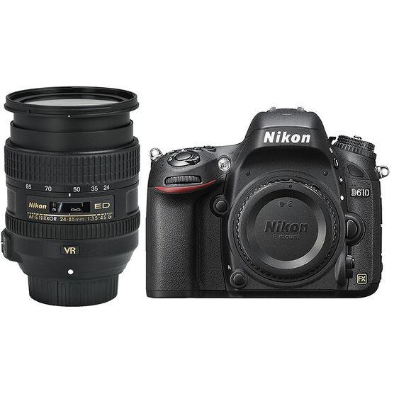 Nikon D610 FX with 24-85mm VR Lens