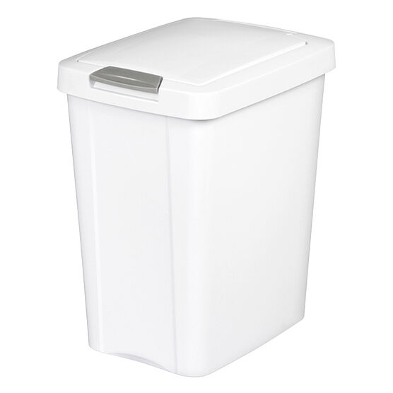 Sterilite TouchTop Wastebasket - White - 28 L
