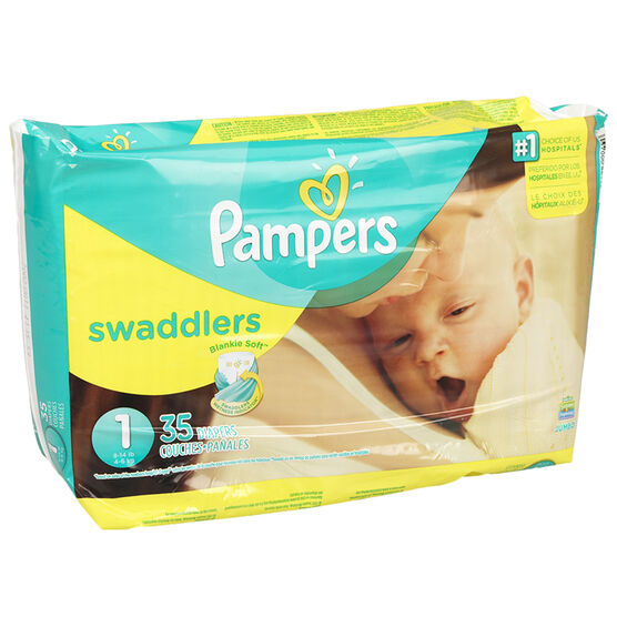 Pampers Swaddlers Diapers - Size 1 - 35's
