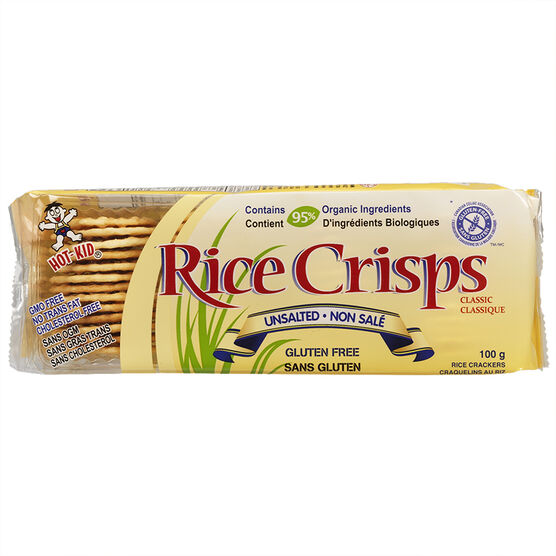 Hot Kid Rice Crisps - Unsalted - 100g