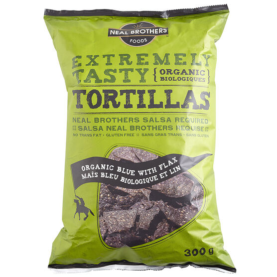 Neal Brothers Organic Blue Tortilla Chips - Flax - 300g