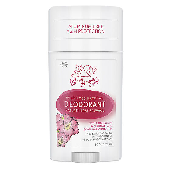 Green Beaver Natural Deodorant - Wild Rose - 50g