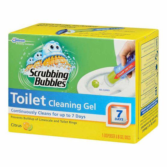 Scrubbing Bubbles Toilet Cleaning Gel - Citrus - 6 gel discs