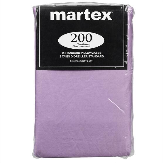 Martex Pillow Case - Standard - Assorted - 2 pack