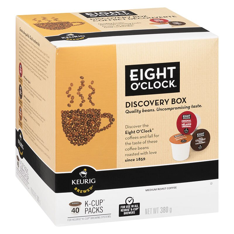 kcup 8 ou0027clock variety box coffee pods discovery mix 40u0027s - Keurig Coffee Pods