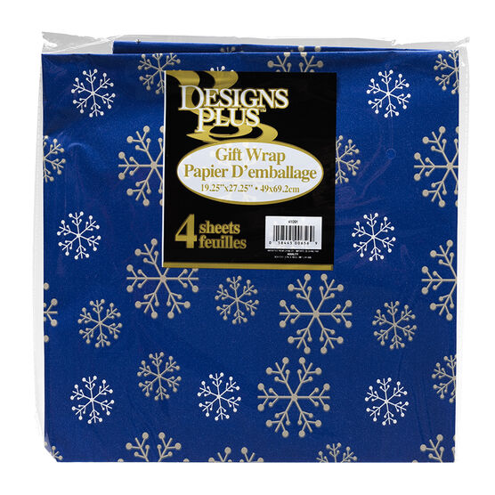 Christmas Flat Wrap - 4 pack - Assorted